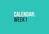 Calendar: Week 1