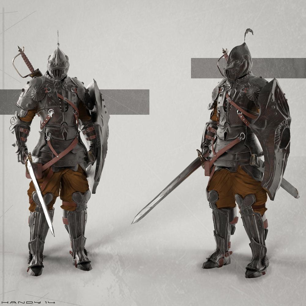 Fantasy Knight Concept Art