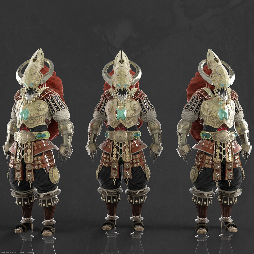 """3D Model of the Fantasy Character """"Gassre."""" Original concept by Holdeen."""
