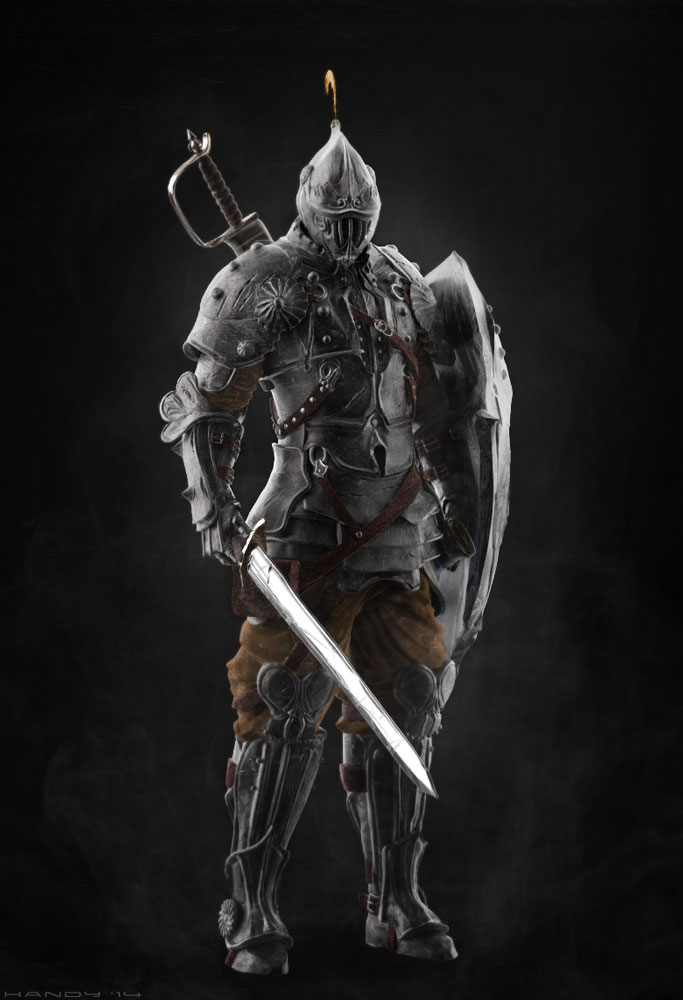 """3D Model of the Fantasy """"Knight."""" Original concept by Motise."""