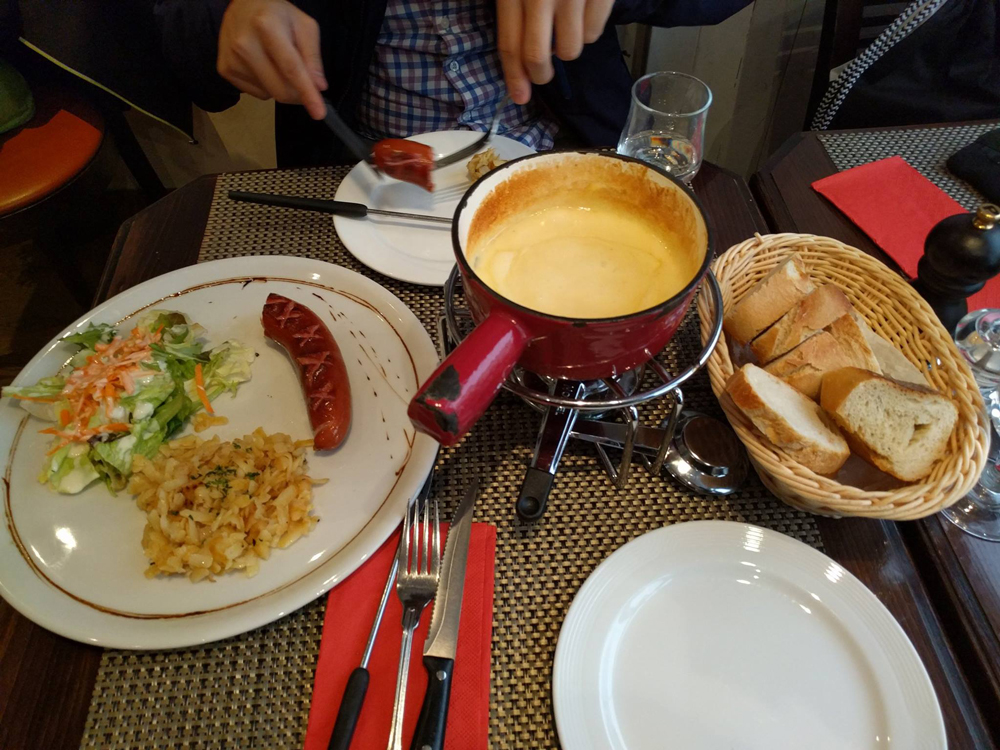 Swiss rosti and fondue (Photo by Molly Morris)